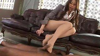 Crazy Japanese whore in Best Cunnilingus, Secretary JAV video