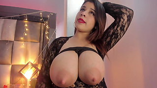Silvia's huge Latina tits have an unlimited milk supply