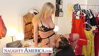 Naughty America - Hot blonde MILF fucks her assistant