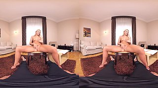 Katy Sky in Katy Introducing Blonde European Girl to Japanese Dick Part 1 - ChinChinVR