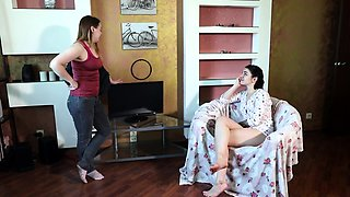 Kinky teens sharing their passion for lesbian submission
