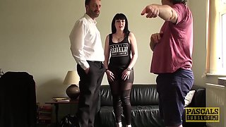 Pascal White And Sexy Cloe In Goth Subslut Dominated By Pascal