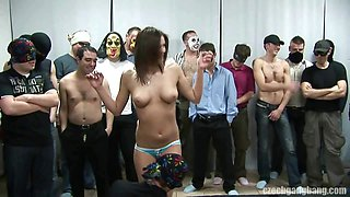 BUSTY GIRL AT CZECH GANG BANG PARTY