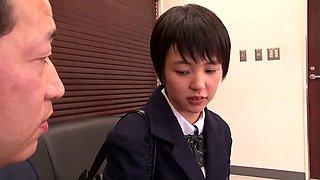 Hottest Japanese girl Sakura Aida in Amazing skinny, college JAV clip