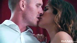 Hot Spanish slut puts on a show for her cuckold hubby