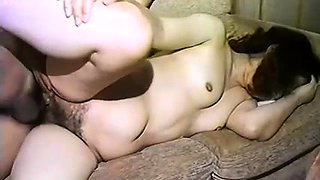 Mature Oriental wife gets her hairy slit pumped full of cock