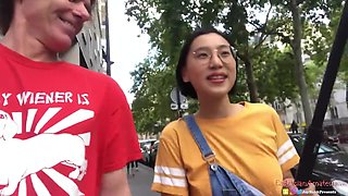 刘玥 Chinese Asian June Liu Creampie - Spicygum Fucks American Guy In Paris X Jay Bank Presents