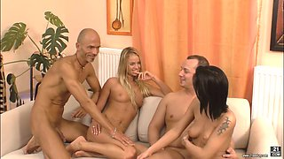 Destiny joins her horny friends for an amazing orgy session