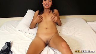 Trikepatrol shaved filipina asian pounded by big dick
