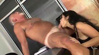 old man boss fuck his horny secretary