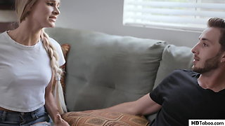 Stepmom and college girl tricked into a taboo affair