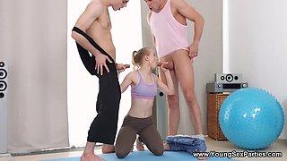 Double Penetration With Sporty 18yo Schoolgirl