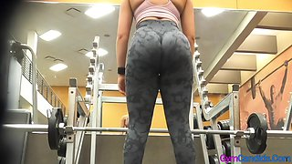 Big Ass in Leggings at the Gym
