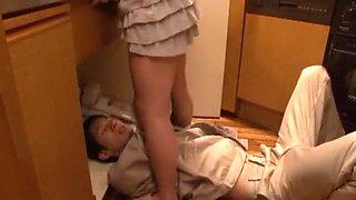 Hottest Japanese girl Mami Asakura in Fabulous Kitchen, MILFs JAV video