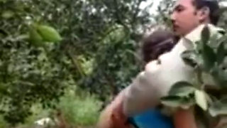 Sexy Hijab Arab Teen gets fucked in forest by old man