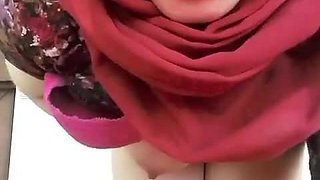 Turkish girl in hijab on webcam