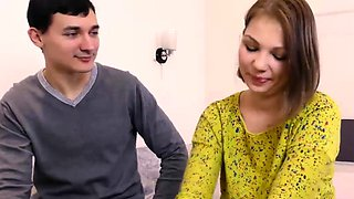 Cute Galina Kabachok is interviewed before defloration