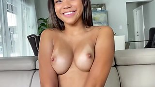 Sweet, Black Teen In Sexy, Red Lingerie Got Down And Dirty With A Handsome, White Guy
