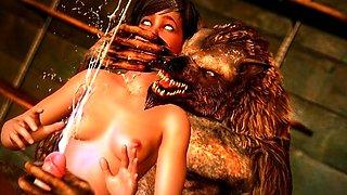 Horny Creatures Fucking Cute Girls 3D!