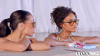 2 Ebony Babes Get Pounded While 69 - Scarlit Scandal & Alexis