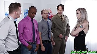 JOHNNYGOODLUCK Lexi Lore Double Fucked In Group