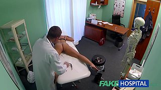 Dizzy youthful golden-haired takes a creampie and begins to fall for the doctor