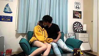 Lovely Asian girlfriend pumped full of dick on hidden cam