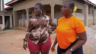 Two huge booty African ladies in shorts