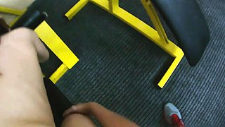 Fucking Glasses - Anal workout in a gym