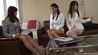 Naughty Asian girl enjoys having kinky sex with cute Kudou Misa