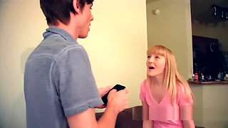 Teenie Krystal Orchid step sister blackmailed and fucked by brother taboo