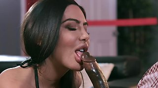 Thick ass brunette pumps massive black inches in her premium holes