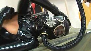Latex rubber angels, gasmask.