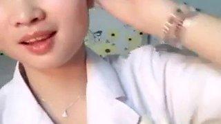 Chinese girl show her magic