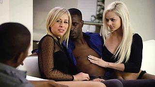 Blonde Babes Enjoy BBC Foursome