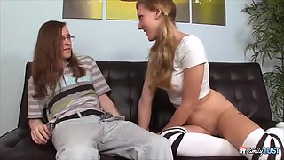horny teen gets the hell outta her erect clit