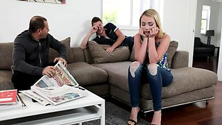 Hottie Dixie Lynn teased by her stepbrohter and gives in