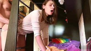 Fool stepsister Mary got trapped and fucked by her brother