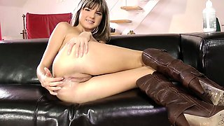 Euro teen loves anal fun with old men