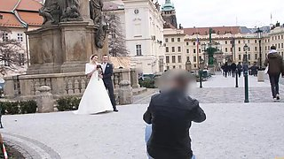 Attractive Czech bride spends first night with rich stranger
