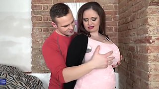Natural busty mature mother Sirale pleasing son