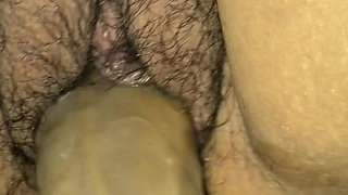 Mexican Latina wife playing with bbc toy