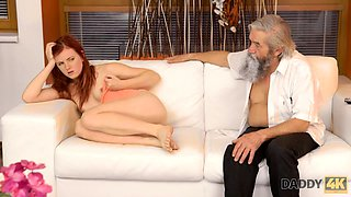 DADDY4K. Cutie takes part in crazy threesome