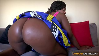 African goddess pleasing a huge white cock