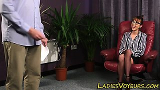 Classy clothed mistress