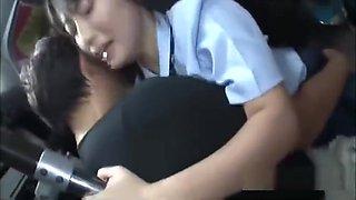 Jav Schoolgirl Ambushed On Public Bus Fucked Standing Up In Her Uniform Big Teen Ass