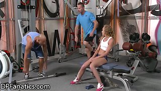 Angel Emily Gets Double-destroyed, Wide Open At The Gym