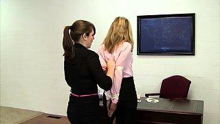 Blonde and Brunette Lesbians Share a Vibrator