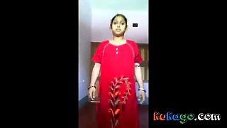 Hot Indian girl in nighty stripping
