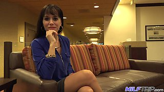 To pick up this sexy brunette MILF is so easy as she thirsts for sex